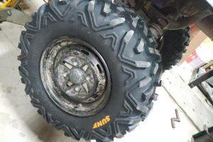New ATV Tire Installed
