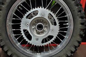 Tire Rim After Vapor Honing